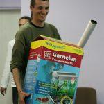 Szczęścliwy zwycięzca konkursu Krewetka